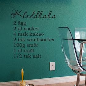 Väggord - Kladdkaka (recept)