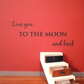 Väggord - Love you to the moon...