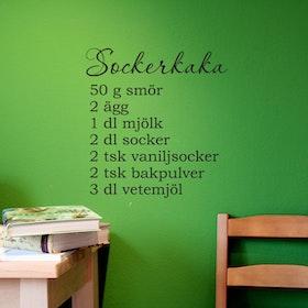 Väggord - Sockerkaka (recept)