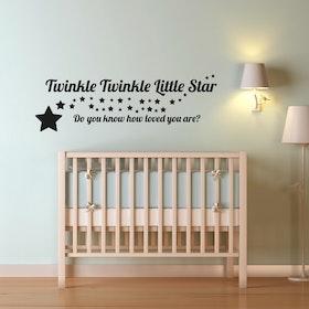 Väggord - Twinkle Twinkle Little Star