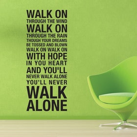 Väggord - You Will Never Walk Alone