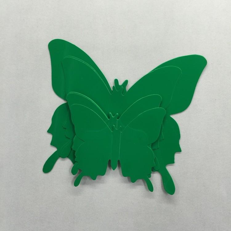 Väggdekor - 3D fjärilar, Enfärgade 12st