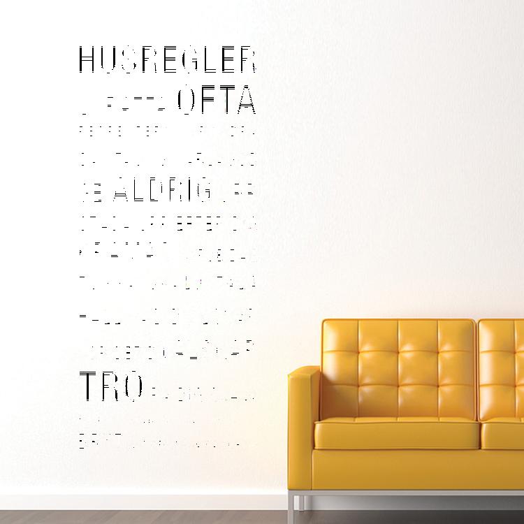 Väggord - Husregler (Bård)