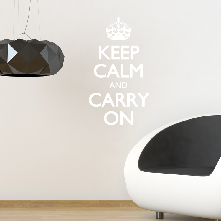 Väggord - Keep Calm and Carry On