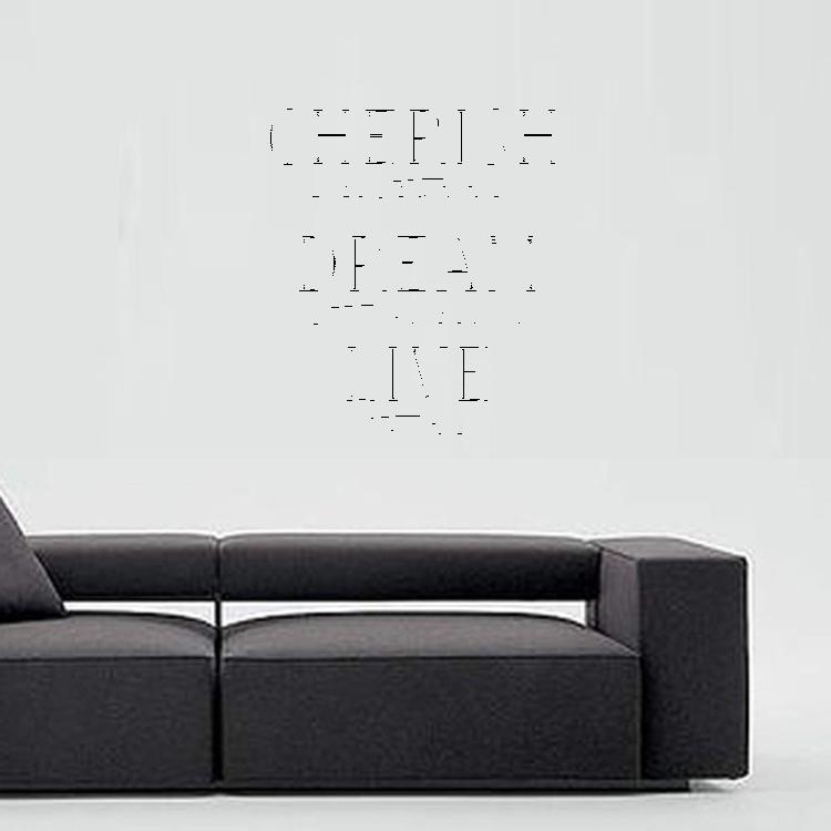 Väggord - Cherish, dream, live