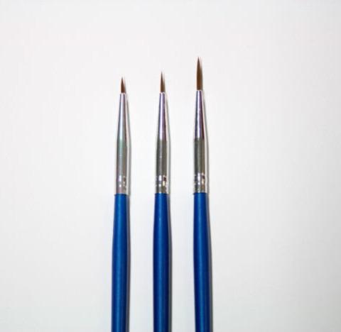 Striper för Nail Art 3st blå