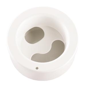 Manikyr skål, dubbelbottnad vit rund