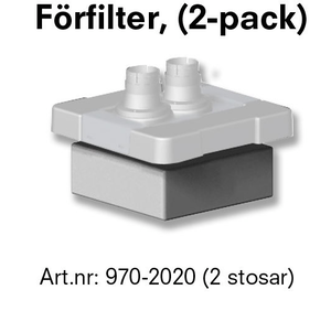 Förfilter Beauty line Exclusive (2-Luft-intagsventiler)