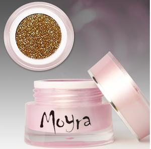 Moyra färg gele Glitter Guld 237