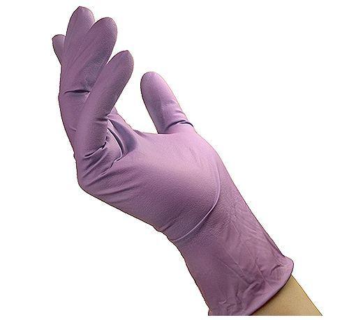 Nitrile hanskar Lila