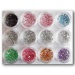 ca 3600 Strass stenar i olika färger