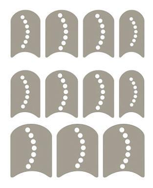 Schabloner naglar 1
