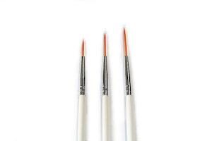 Striper för Nail Art 3st vit
