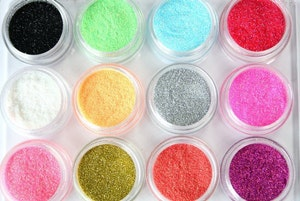 Glitter pulver  megapack 12 färger 2