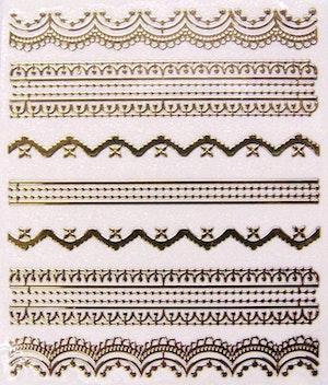 Nail stickers guld