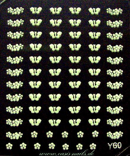 stickers vita självlysande  välj mönster