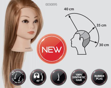 Blond övnings hår/ huvud