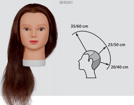 LADY 60 TRAINING HEAD HUMAN HAIR 60CM ORIGINAL