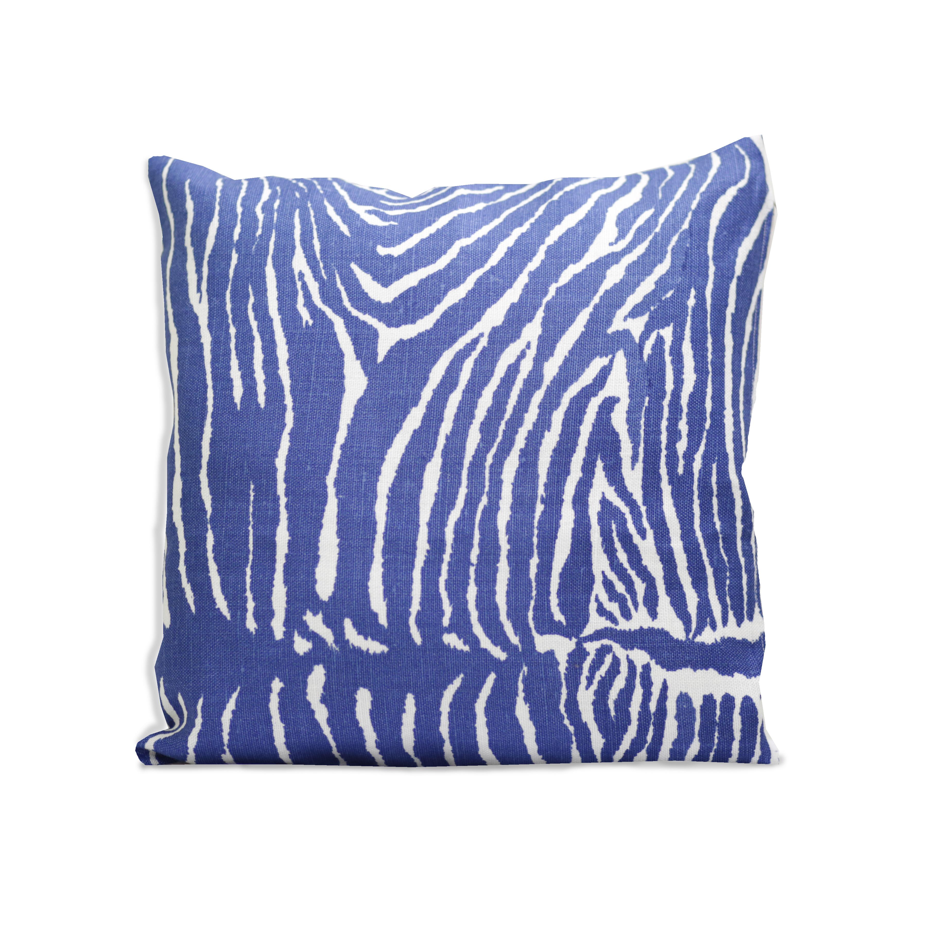 Le Zebre blå 40x40