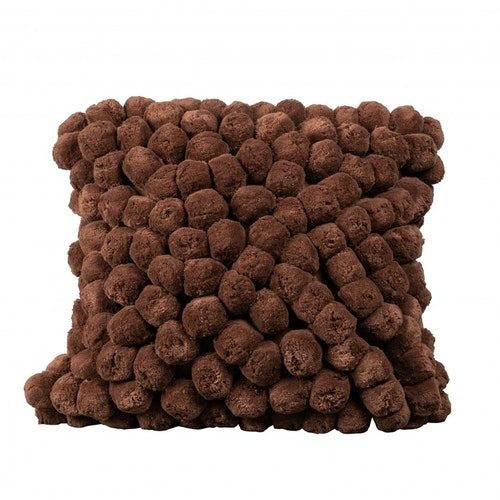 Pillow Pompom brown