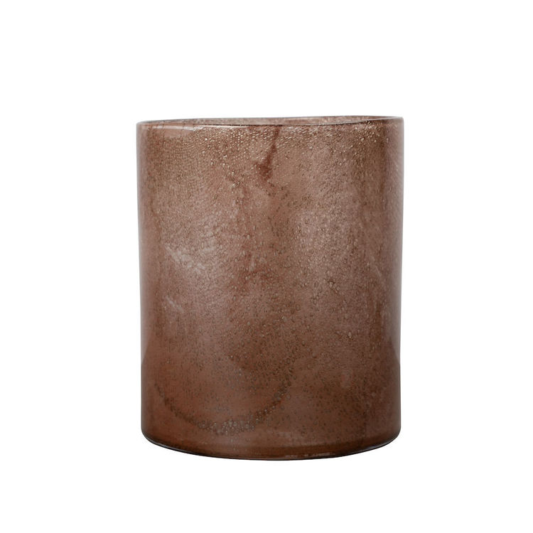 Vase/Candle holder Calore L Brown/Rusty red