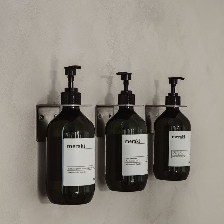 Väggfäste Supply -  Borstad silverfärg