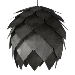 Taklampa trä svart
