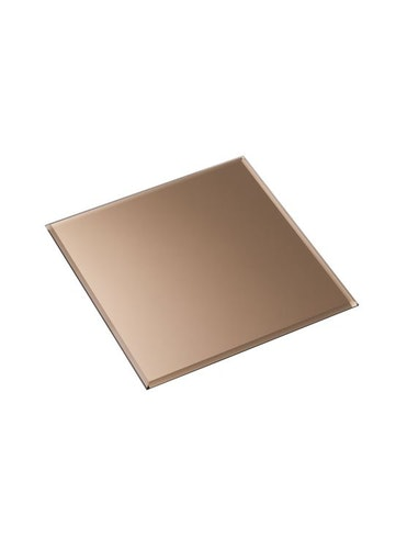 Stoff glasbricka kvadrat - smoked brown