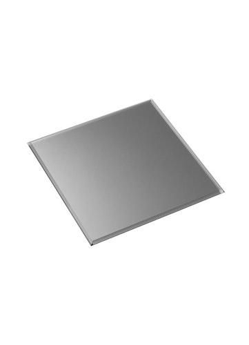 Stoff glasbricka kvadrat - smoked black