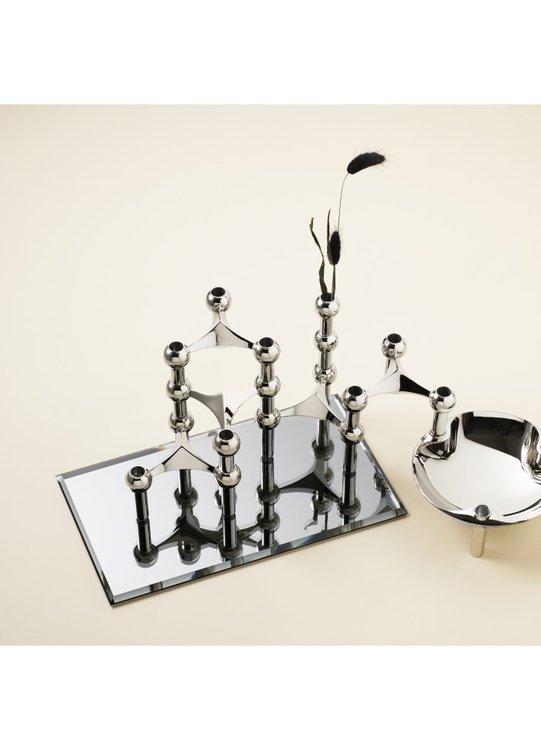 Stoff glasbricka rektangulär - smoked black