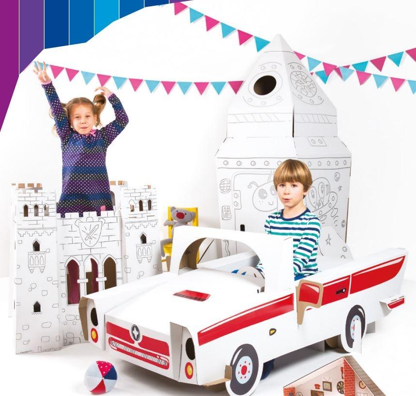 Producerar leksaker tillverkade i korrugerad kartong av hög kvalitet.cta image