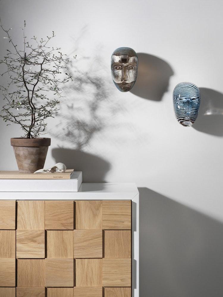 Skulptur/väggdekoration Brains Look In, Kosta Boda, Bertil Vallien