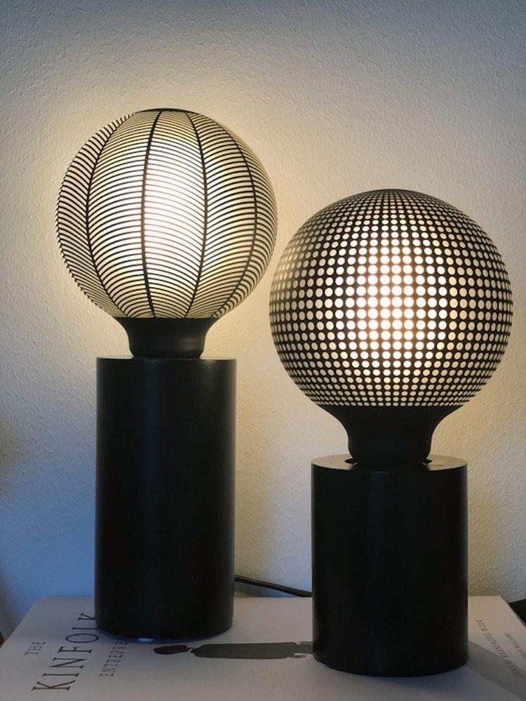 Lampfot Tub, svart, 10 cm