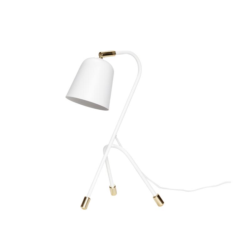 Bordslampa vit/mässing, Hübsch