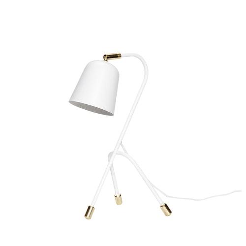 Bordslampa i vitt och mässing, Hübsch