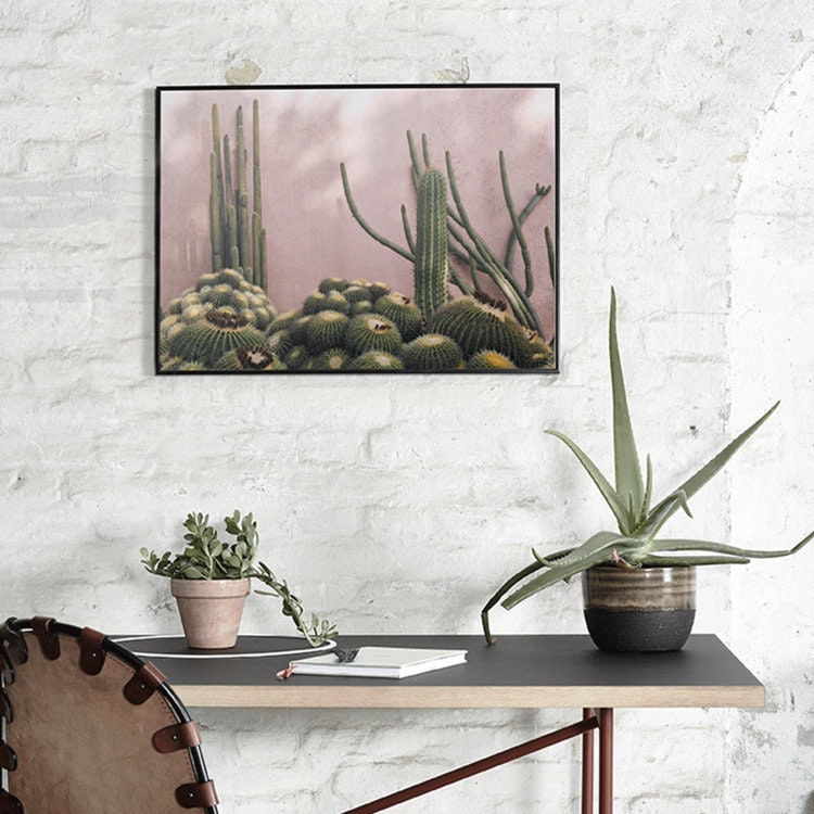 Plants on pink, poster, Paper Collective