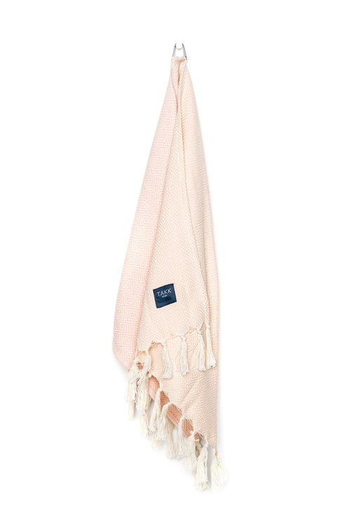Handduk, rosa