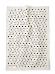Kökshandduk Net, vit/svart, Littlephant