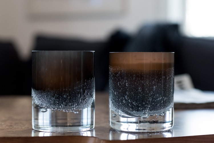 Hurricane Soda black skogsberg smart ljuslykta glas