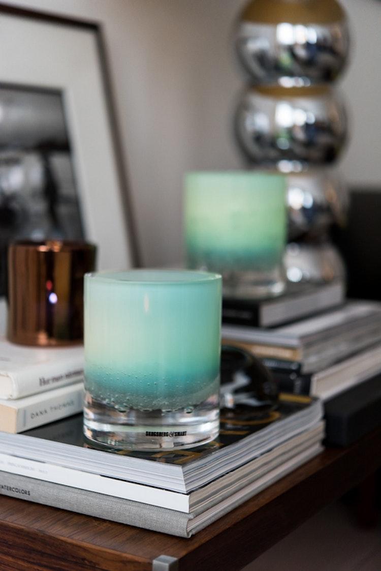 Hurricane Soda aqua skogsberg smart ljuslykta glas