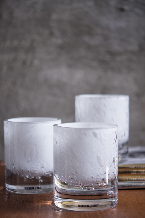 Hurricane Soda white, Skogsberg&Smart, ljuslykta, glas