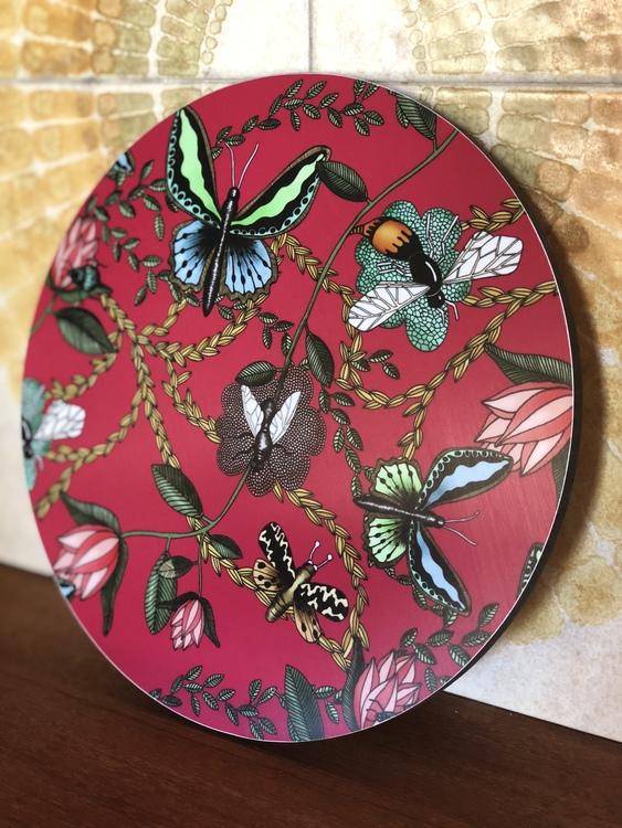 Grytunderlägg Bugs & Budgies cerise/hallon