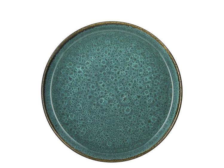 Tallrik Bitz Gastro, grön/grön stengods, 27 cm