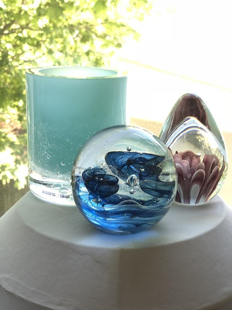 Hurricane Soda aqua skogsberg smart ljuslykta glas brevpress