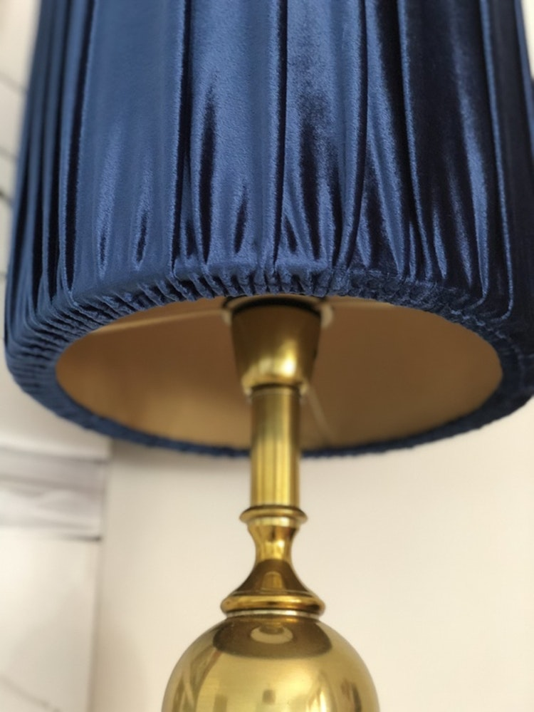 Lampskärm Roma, blå, Hallbergs belysning