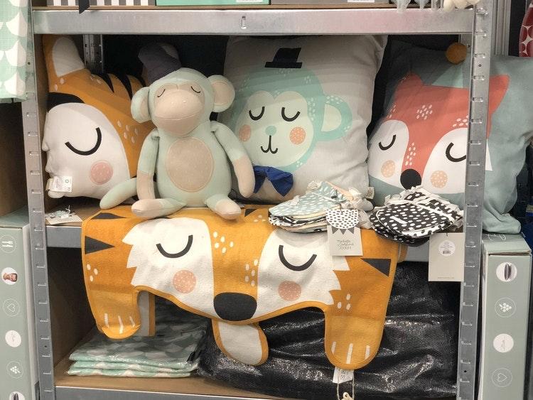 Barnkudde, Monty monkey, Södahl, Theo tiger, Frida fox