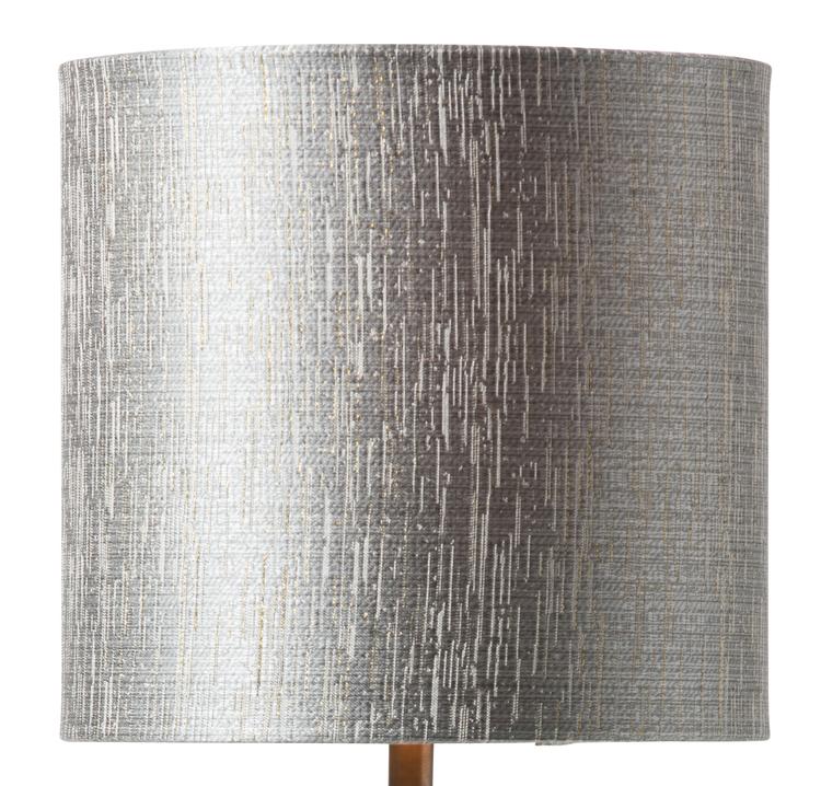 Lampskärm Erica 19, grå/guld