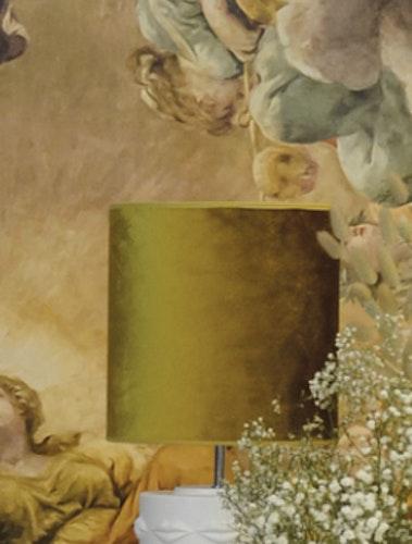 Lampskärm Roma hög 20, guldgul, Hallbergs belysning