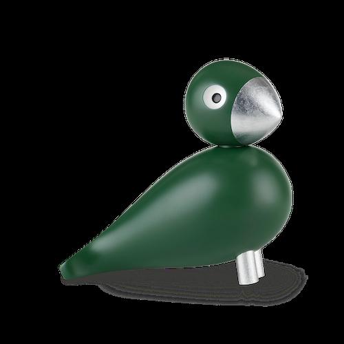 Kay Bojesen, sångfågel Georg, mörkgrön/silver