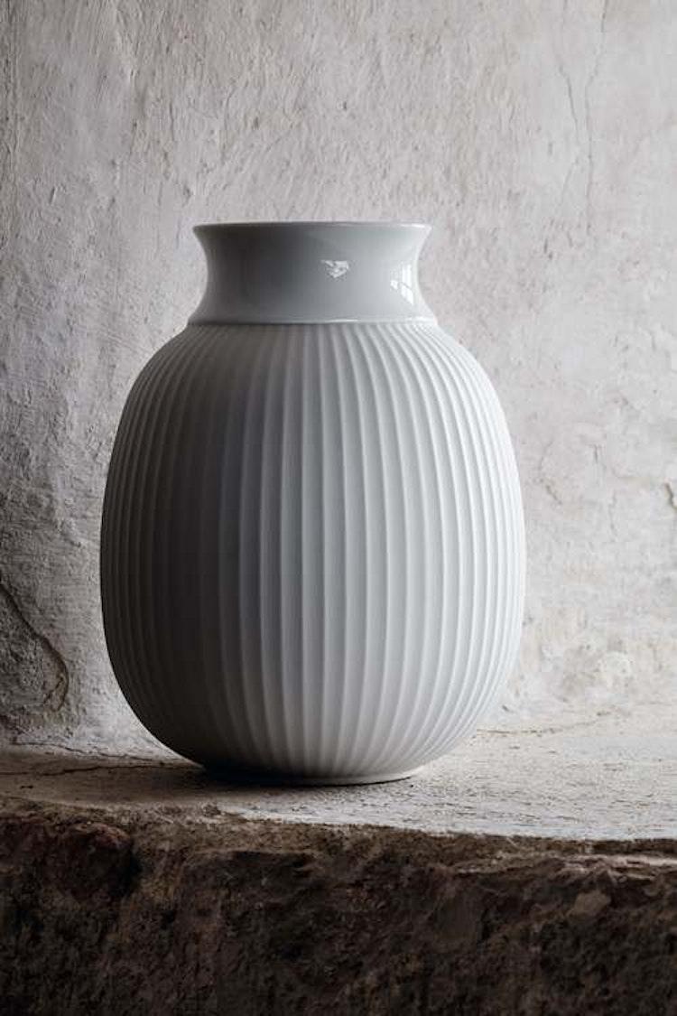 Vas Curve, Lyngby porslin, stor, 17,5 cm